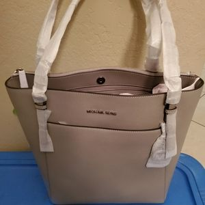 Nwt Michael kors leather grey voyager